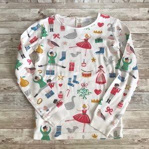 Mini boden girls Christmas pajama set